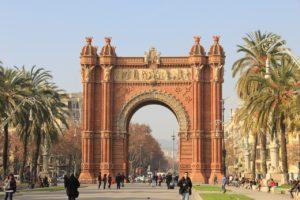 barcelona arco de triunfo